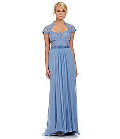 Tadashi Lace Beaded Gown #Dillards. Love it but it doesn't come in my size