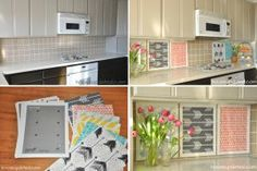 Rental Rehab: 13 Removable DIY Kitchen Backsplashes: Cover an Ugly Backsplash With Eye-Popping Graphics