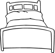 big bed pics coloring pages - photo#21
