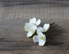 Dogwood flower hair comb  bridal hair comb  by GentleDecisions