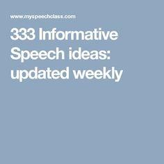 good speech topics for kids