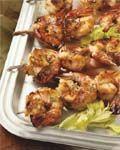 Zoetzure gamba-kebabs #recepten