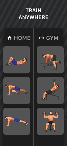 ‎Muscle Booster Workout Tracker on the App Store Full Body Workout Plan, Gym Workout Chart, Gym Workout Videos, Body Workout At Home, Gym Workouts For Men, Workout Routine For Men, At Home Workouts, Muscle Booster, 10 Minute Ab Workout