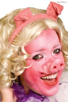 Pig Face Woochie#Pig, #Face, #Woochie Halloween Accessories, Costume Accessories, Pig Costumes, Halloween Costumes, Small Pigs, Morris Costumes, Animal Makeup, Theatre Makeup, Accessories
