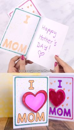 Mothers Day Card Idea This card makes the heart pop – print our template and make this Simple Mothers Day Card Idea.This card makes the heart pop – print our template and make this Simple Mothers Day Card Idea. Mothers Day Crafts For Kids, Paper Crafts For Kids, Mothers Day Cards, Diy Arts And Crafts, Diy For Kids, Mother's Day Activities, Mother Card, Boyfriend Crafts, Mother's Day Diy