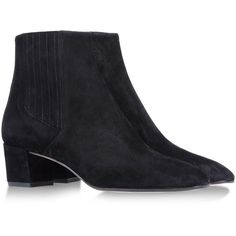 GIANVITO ROSSI Ankle boots (£240) ❤ liked on Polyvore featuring shoes, boots, ankle booties, short boots, mid heel booties, round cap, bootie boots and real leather boots