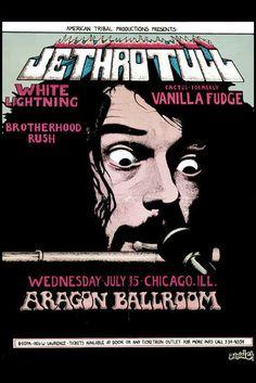 Jethro Tull at Aragon Ballroom Concert Poster 1970