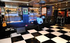 Stage Interior Design of Hard Rock Cafe London The Bedford, Cafe Wall, Wall Of Fame, Rock Of Ages, Bar, Holidays And Events, Live Music, Event Decor, Hard Rock