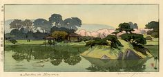 hanga gallery . . . torii gallery: A Garden in Okayama by Hiroshi Yoshida