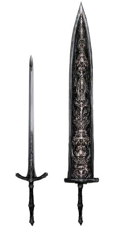 Ludwig's Holy Blade Art – Bloodborne Art Gallery - Modern Fantasy Sword, Fantasy Armor, Dark Fantasy Art, Medieval Fantasy, Bloodborne Concept Art, Bloodborne Art, Cool Swords, Sword Design, Anime Weapons