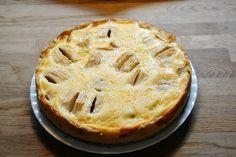 Rezept für einen Apfelkuchen mit Quarkguss.