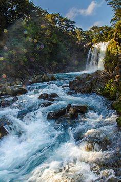 Quedas de Tawhai - Parque Nacional de Tongariro, Ilha Norte, Nova Zelândia.