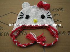 Precio directo de fábrica infantil hello kitty cat gorro niño bebé animal earflap sombrero del ganchillo ( kcc - tm0042 lazo rojo )-Sombreros y Gorras Bebé-Identificación del producto:567333307-spanish.alibaba.com