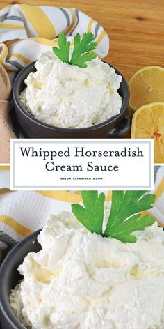 A fluffy Horseradish Cream Sauce is the perfect, light sauce for Prime Rib or to… A fluffy horseradish cream sauce is the perfect, light sauce for prime rib or to froth a roast beef sandwich! # Horseradish sauce www. Prime Rib Horseradish Sauce, Prime Rib Sauce, Horseradish Recipes, Prime Rib Recipe, Prime Rib Roast, Homemade Horseradish, Roast Beef Dinner Sides, Roast Beef Side Dishes, Side Dishes For Ribs