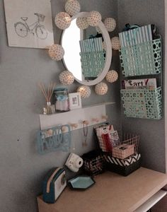My new creative desk area in upstairs hallway nook #victorianhouse