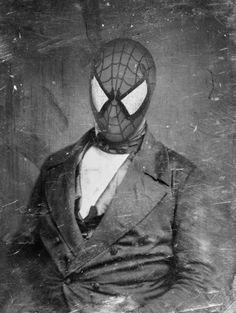 Spiderman portrait.