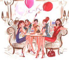 Izak Zenou Illustrator – Fashion, Commercial and Beauty illustration Beauty Illustration, Watercolor Illustration, Crazy Friends, Fashion Design Sketches, Beach Art, Illustrations, Art Sketchbook, Art Drawings, Happy Birthday