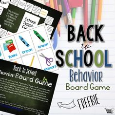 Back to School Behavior Board Game is perfect for your elementary classroom!  Check out this FREE printable today! #freebie #BackToSchool #SpeechBubble #SLP #speechTherapy #games #SPED #OT #elementary