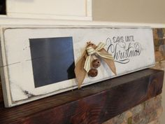 Rustic Christmas Countdown Sign Chalkboard by OneHairCreations, $32.00