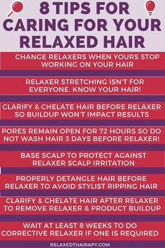 Caring for relaxed hair…tips for growing hair long and healthy…regimen and preparing for touch up…when to do a corrective relaxer…combat dry h… - All About Hairstyles Long Relaxed Hair, Relaxed Hair Journey, Healthy Relaxed Hair, Healthy Hair Tips, Relaxed Hair Growth, Grow Long Hair, Grow Hair, Natural Hair Care, Natural Hair Styles