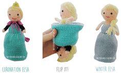 Elsa Frozen Flip Doll by Raynor Gellatly | Frozen Inspired Knitting Patterns at http://intheloopknitting.com/frozen-knitting-patterns