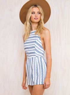 7fe2343bdbf Amalfi Coast Playsuit Stripe Print