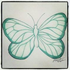 100 Butterflies in 100 Days, Day 2, Medium: Color Pencil
