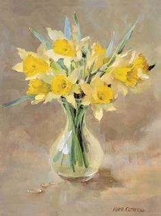 Wild Daffodils - Blank Card | Mill House Fine Art – Publishers of Anne Cotterill Flower Art