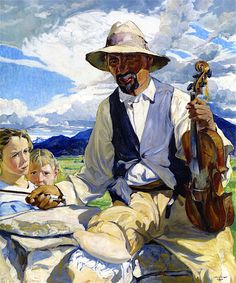 The Athenaeum - The Fiddler of Taos (Walter Ufer - )