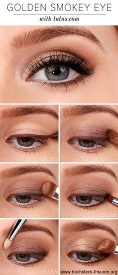 Silvester Make-Up: Acht schöne How To's | Hochsteck Frisuren