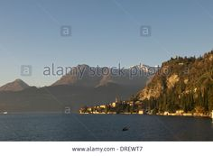 Sunset,varenna View,lake Como,lecco,italy Stock Photo, Picture And Royalty Free Image. Pic. 66095799