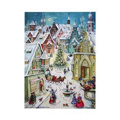 Snowy Christmas Village Advent Calendar ~ Germany
