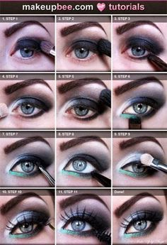 Blue And Green Smokey Eyes Makeup Tutorial
