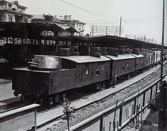 The Armored train 'General Drozdovsky' at the Goitkh station in the Tuapsinsky District, 1920.