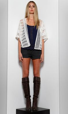 Gretta Crochet Vest by SASS | Jackets for Women | @ alibiOnline  This is just what you need to add a boho flair to your style! Rock over a printed mini dress with flats or over a cute cami and jeans for a casual coffee date.