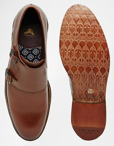 Ted baker Kartor Leather Monk Shoes in Brown for Men  9f40c6076e00