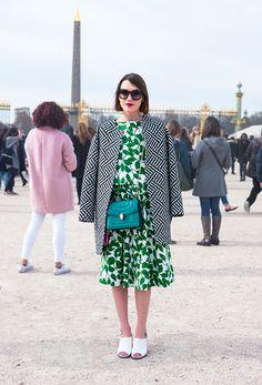 Street Style Models Paris FashionWeek Street Style : Mix and match - Lelook