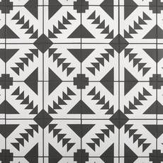 Apache Black and White Matte Porcelain Tile