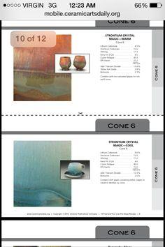 Strontium magic cool & warm! Source: Ceramic arts daily!
