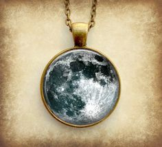 Full Moon Necklace Pendant , Art Charms
