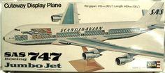 Revell 1/144 Boeing 747 Cut Away Jumbo Jet - SAS or British Airways, H177 plastic model kit