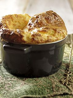 Gruyere, Cheddar, and Chive Souffle