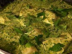 Spinach and Three Cheese Ravioli with Sugo Sauce