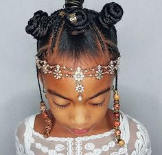 Jul 2019 - Black Kids Hairstyles with braids, Beads and Other Accessories Braids with beads, K Black Kids Hairstyles, Baby Girl Hairstyles, Natural Hairstyles For Kids, Kids Braided Hairstyles, Toddler Hairstyles, Latest Hairstyles, Hairstyles Haircuts, Braids For Kids, Girls Braids