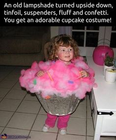 Homemade Cupcake Costumes...these are the BEST Halloween Costume Ideas for Babies & Kids!