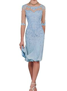 Women Half Sleeves Chiffon Mother of The Bride Dresses Tea Length Mother Formal Dress Party Dinner Prom Dress Bride Mother Of Bride Outfits, Mother Of Groom Dresses, Mothers Dresses, Mother Of The Bride, Bride Dresses, Prom Dresses, Wedding Dress Chiffon, Tea Length Wedding Dress, Tea Length Dresses