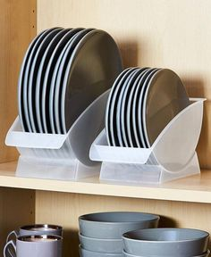 The Plate Cradle holds your dishes and protects them when stored. It holds plates upright and gives you quick and easy access. It holds up to 8 plates and takes up best kitchen decor Vertical Plate Racks for Cabinet Kitchen Pantry, Diy Kitchen, Kitchen Gadgets, Kitchen Decor, Smart Kitchen, Awesome Kitchen, Kitchen Counters, Kitchen Dishes, Kitchen Ideas