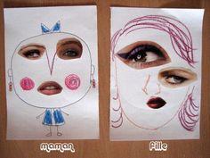 "julie ♥ adore dimanche: collage ""visage"""