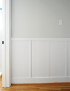 Young House Love | Our $57 Board and Batten Tutorial (It's Surprisingly Easy!) | http://www.younghouselove.com