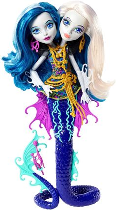 Amazon.com: Monster High Great Scarrier Reef Peri & Pearl Serpintine Doll: Toys & Games